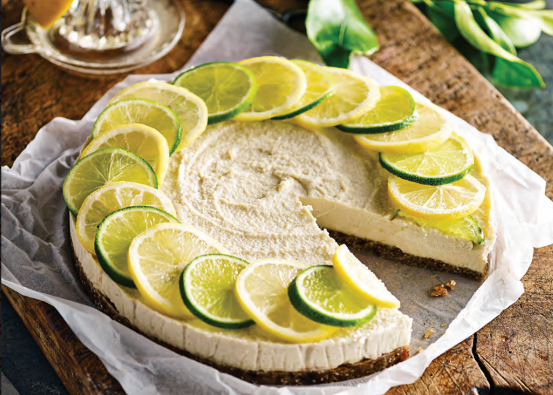 Raw Lemon & Coconut Cheesecake