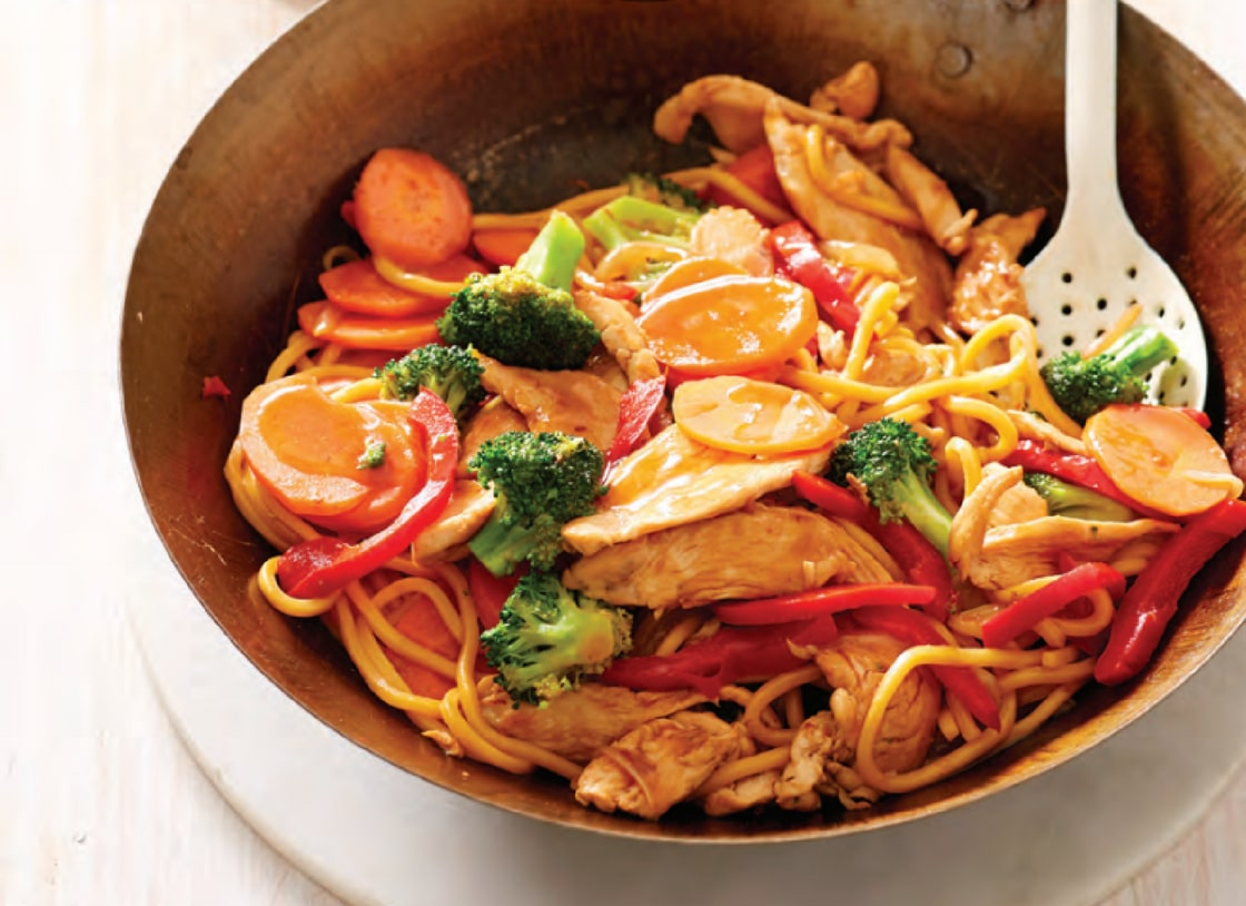 Honey Chicken and Noodle Stir-Fry