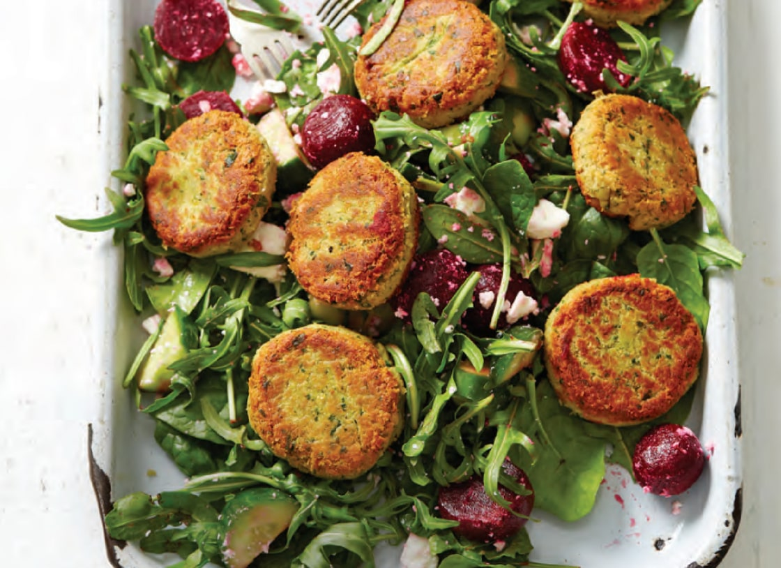 Cannellini Patties with Beetroot and Feta