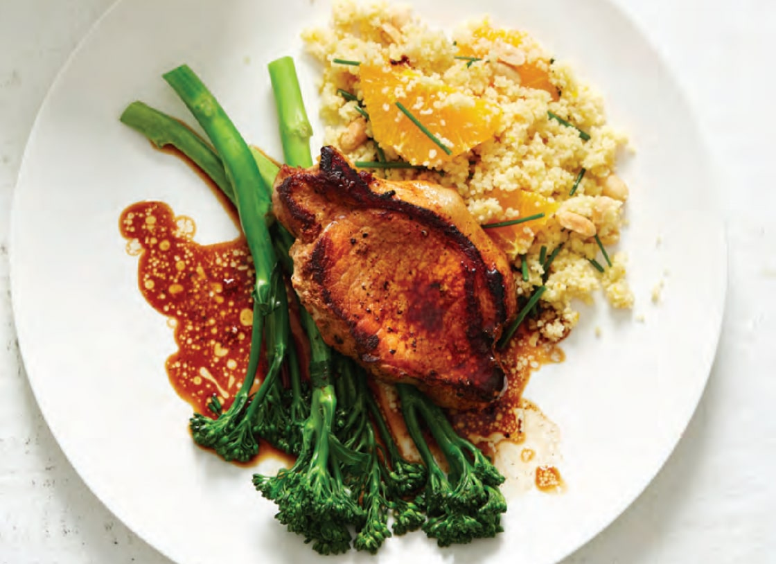 Pork Medallion with Orange and Peanut Couscous
