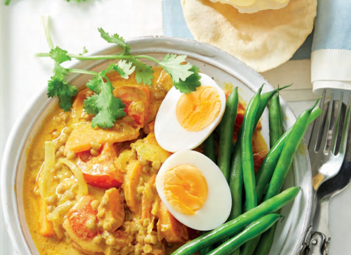 Indian Spiced Lentils and Eggs