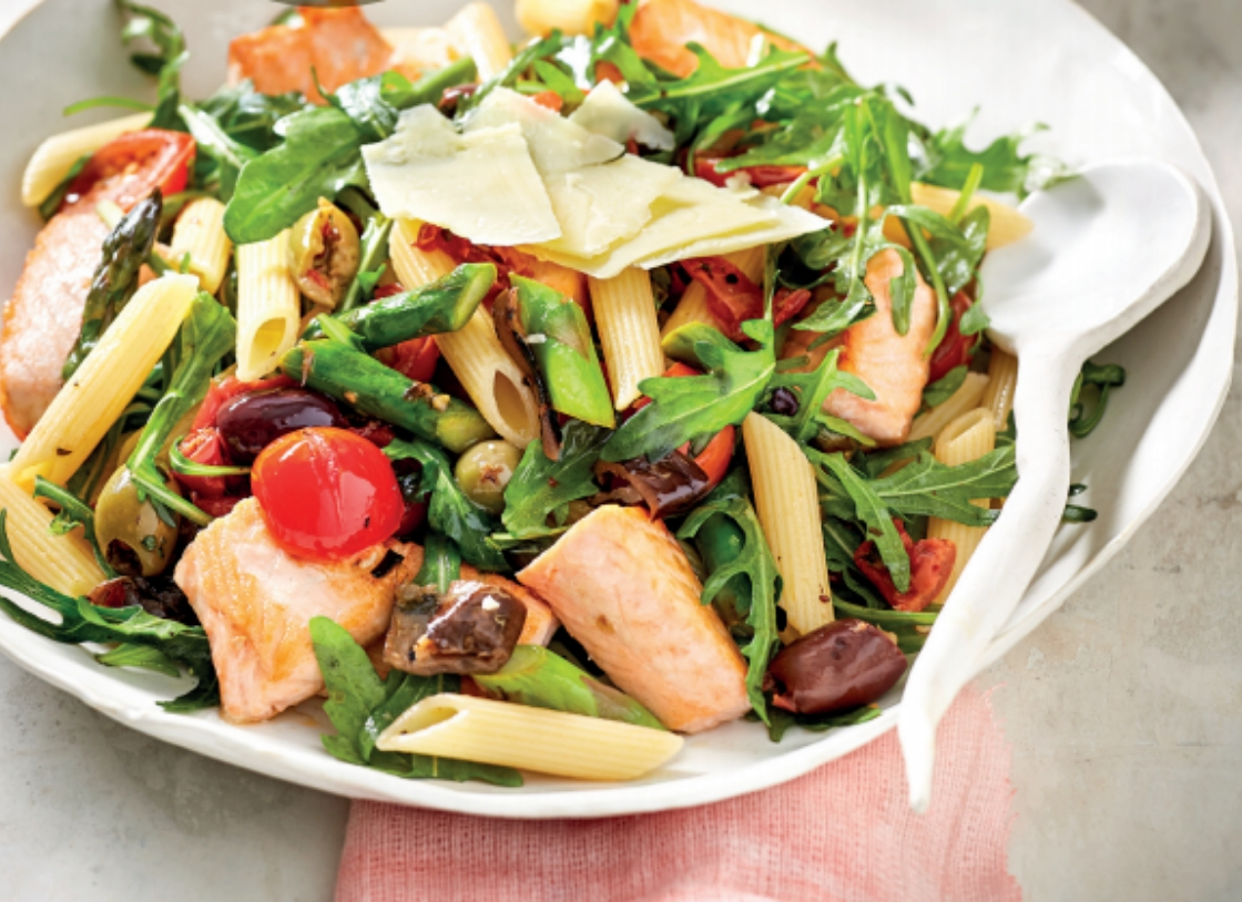 Salmon and Rocket Antipasto Penne