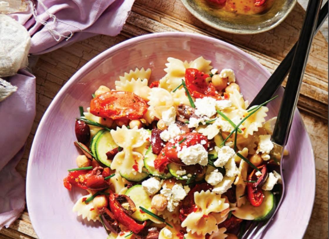 Chickpea & Zucchini Farfalle