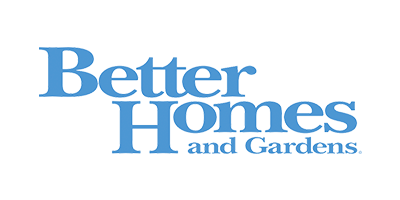 Blue logo of Better Homes and Gardens