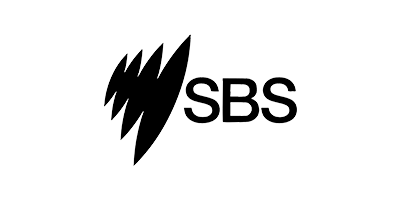 Black logo of SBS