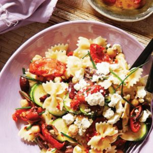 Checkpea and Zucchini Farfalle