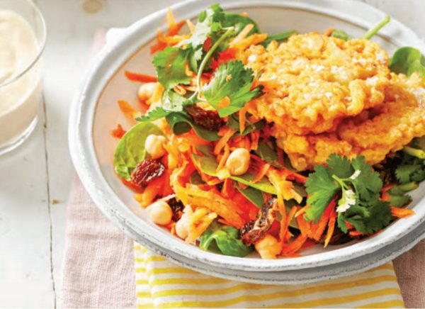 Curry Cauliflower with Salad