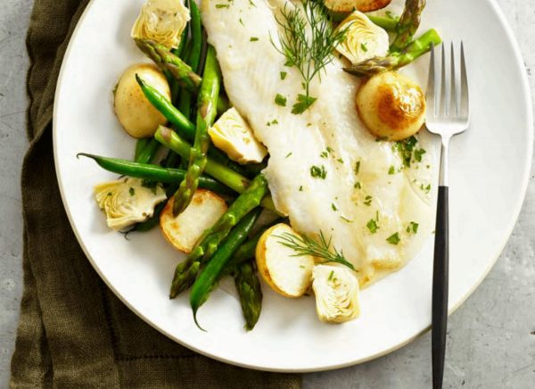 Fish with Asparagus Beans