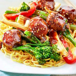 Hoisin Sesame Pork Meatballs