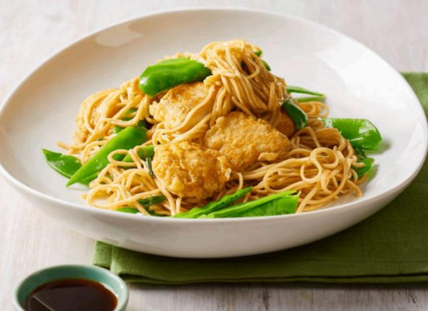 Honey Ginger Chicken with Noodles