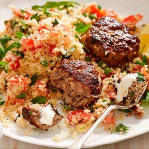Lamb Croquettes with Couscous Tabouli