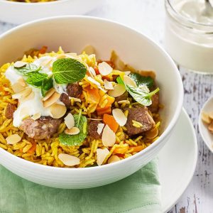 Lamb with Biryani Rice