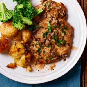 Pork Limone with Smashed Chat Potatoes