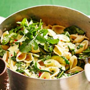 Zucchini Lemon and Chilli Conchiglie