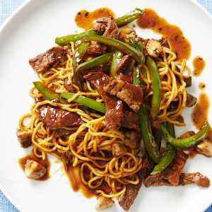 Beef Noodle Stir-Fry With Mushrooms