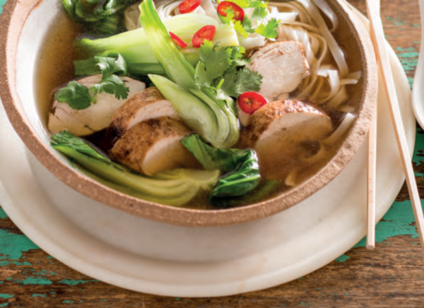 Five Spice Chicken With Asian Broth