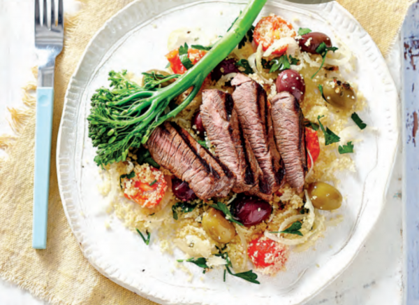 Lamb With Tomato & Olive Couscous